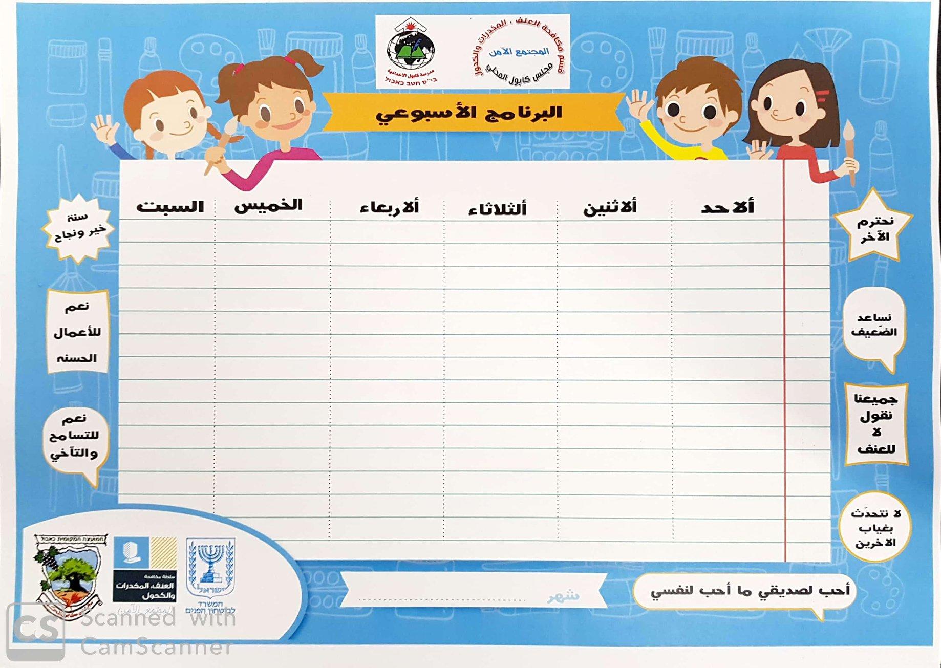 نشر لافتات تحمل شعارات تدعو لسنة دراسية ناجحة وآمنة